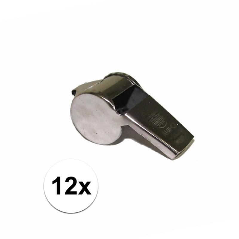 Scheidsrechter fluitjes 12x -