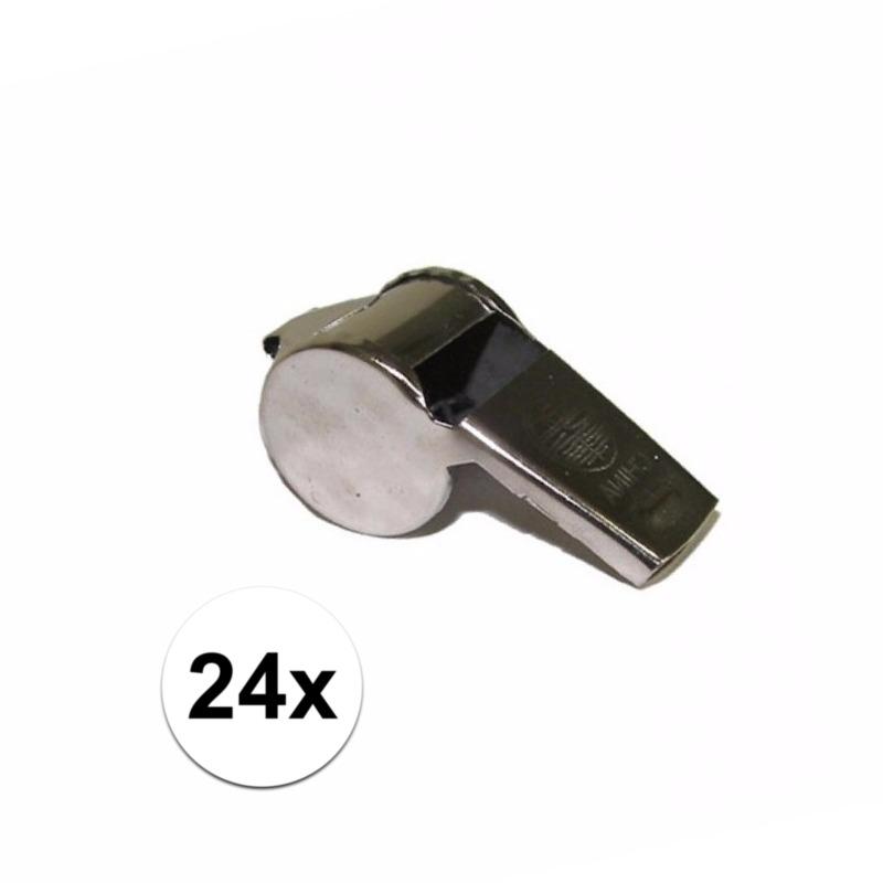 Scheidsrechter fluitjes 24x -