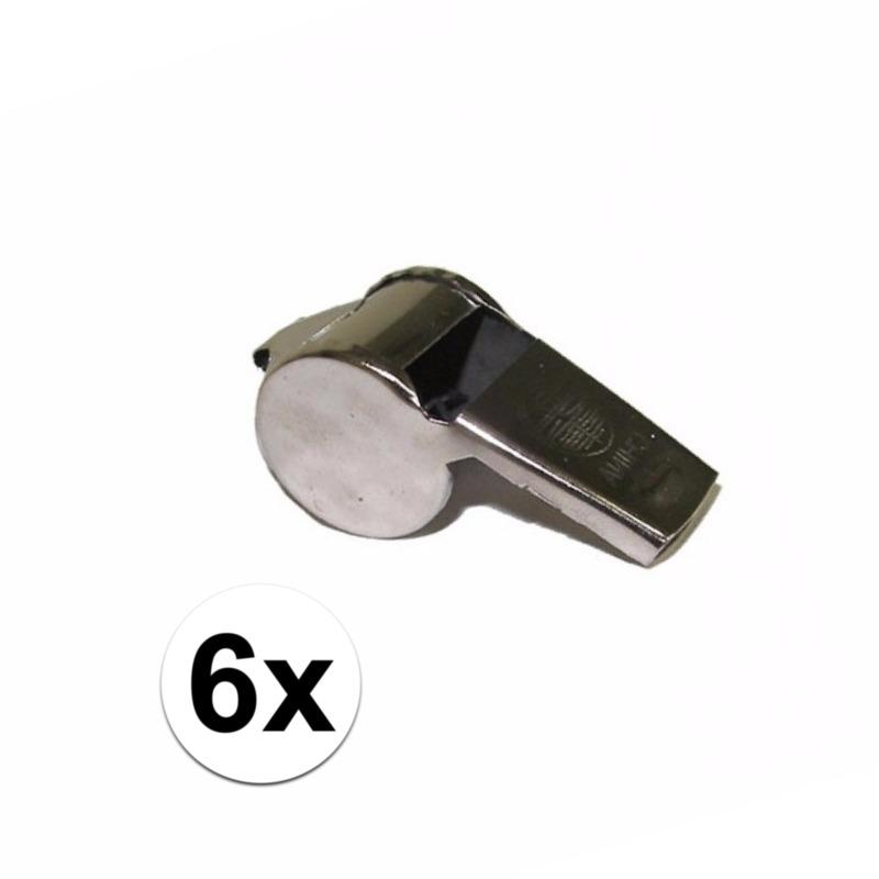 Scheidsrechter fluitjes 6x -