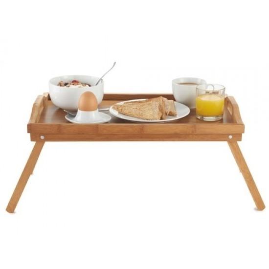 Ontbijt op bed dienblad/tafeltje hout 50 x 30 cm Bruin
