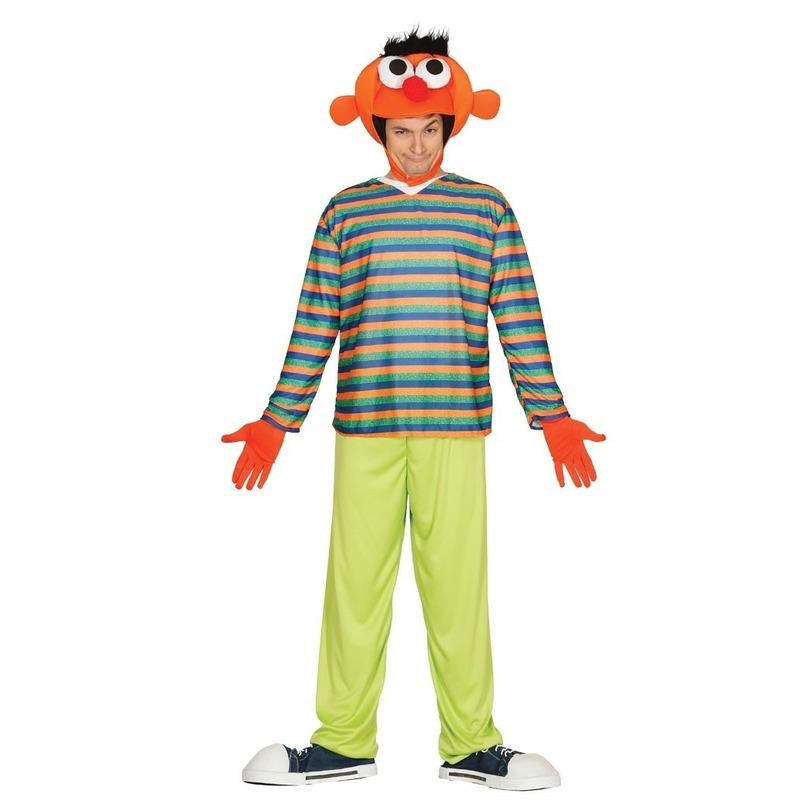 Sesamstraat look-a-like Ernie verkleedpak voor volwassenen L (52-54) Multi