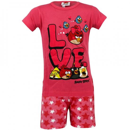 Shortama Angry Birds roze 128-134 Roze