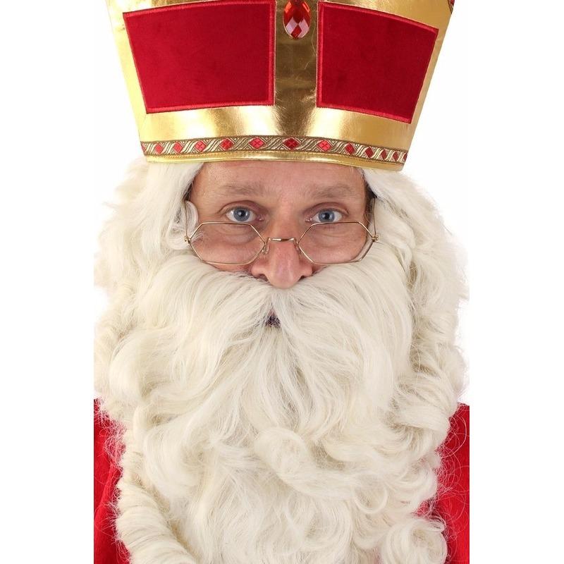 Sinterklaas bril goudkleurig Goudkleurig
