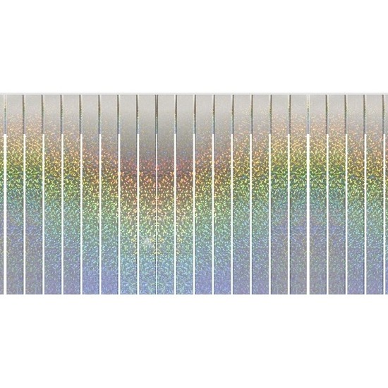 Slinger holografische feest versiering franjeslinger 6 meter -
