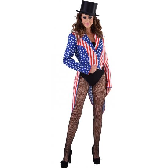 Slipjassen Amerika Stars and Stripes voor dames 42 (XL) Multi