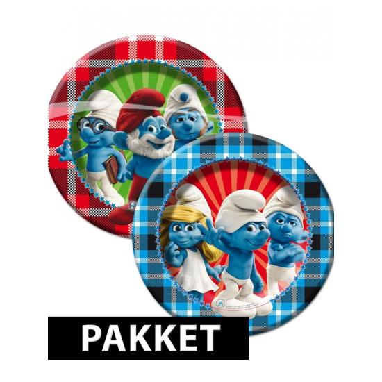 Smurfen versiering pakket voor kinderfeestje Multi