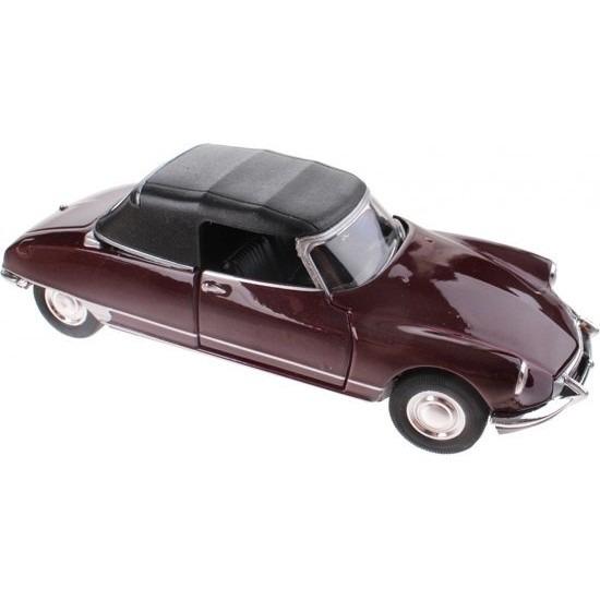 Speelgoed auto Citroen DS19 bordeaux rood autootje 1:36