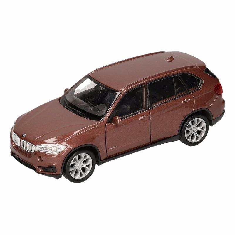 Speelgoed BMW X5 bruin Welly autootje 1:36