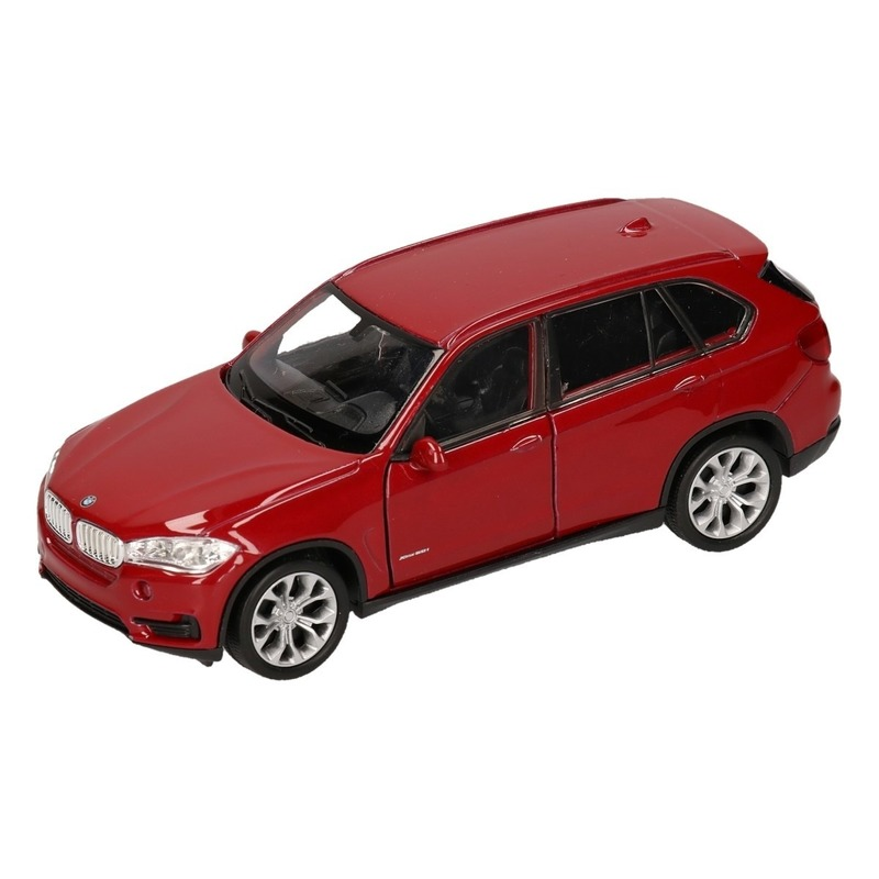 Speelgoed BMW X5 rood Welly autootje 1:36