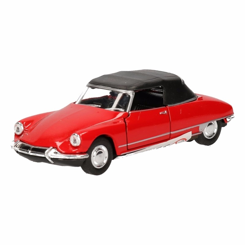 Speelgoed Citroen DS19 rood autootje 1:36