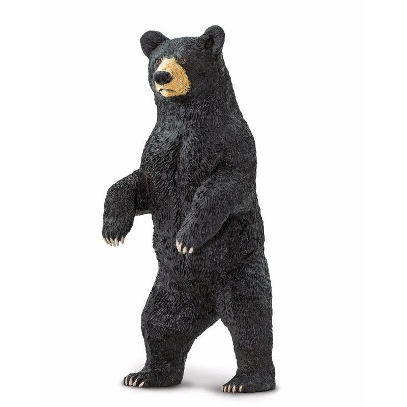 Speelgoed nep zwarte beer 10 cm Zwart