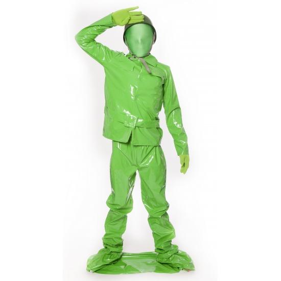 Speelgoed soldaat morphsuit voor kids 8-10 jaar (140) Groen
