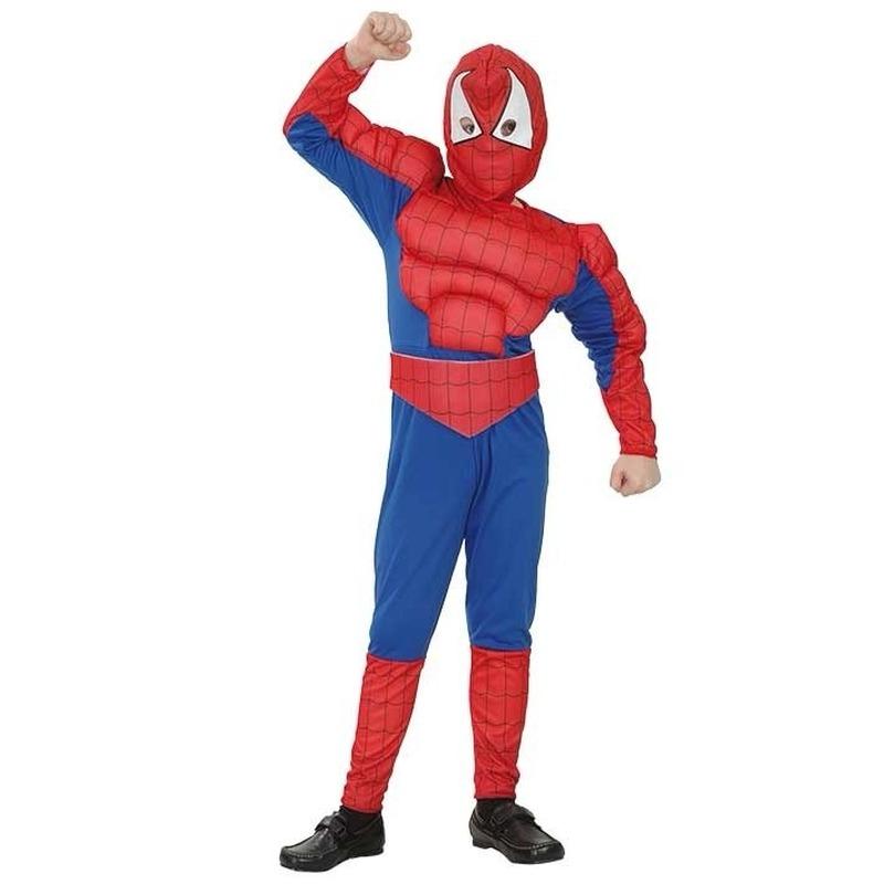 Spiderman kostuum voor jongens 110-122 (4-6 jaar) Multi