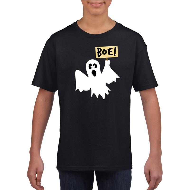 Spook halloween t-shirt zwart voor jongens en meisjes XL (158-164) Zwart