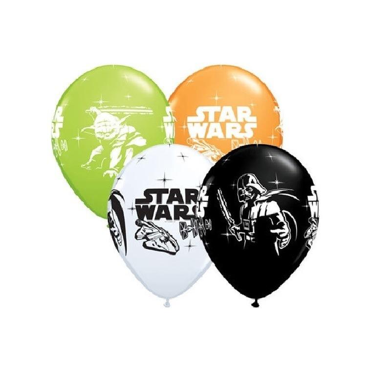 Star Wars ballonnen 6 stuks Multi