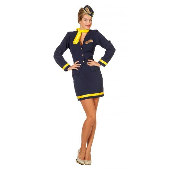 Stewardess uniform voor dames 38 (M) Multi