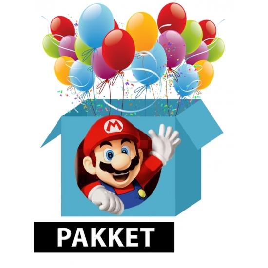 Super Mario versiering pakket voor kinderfeestje Multi