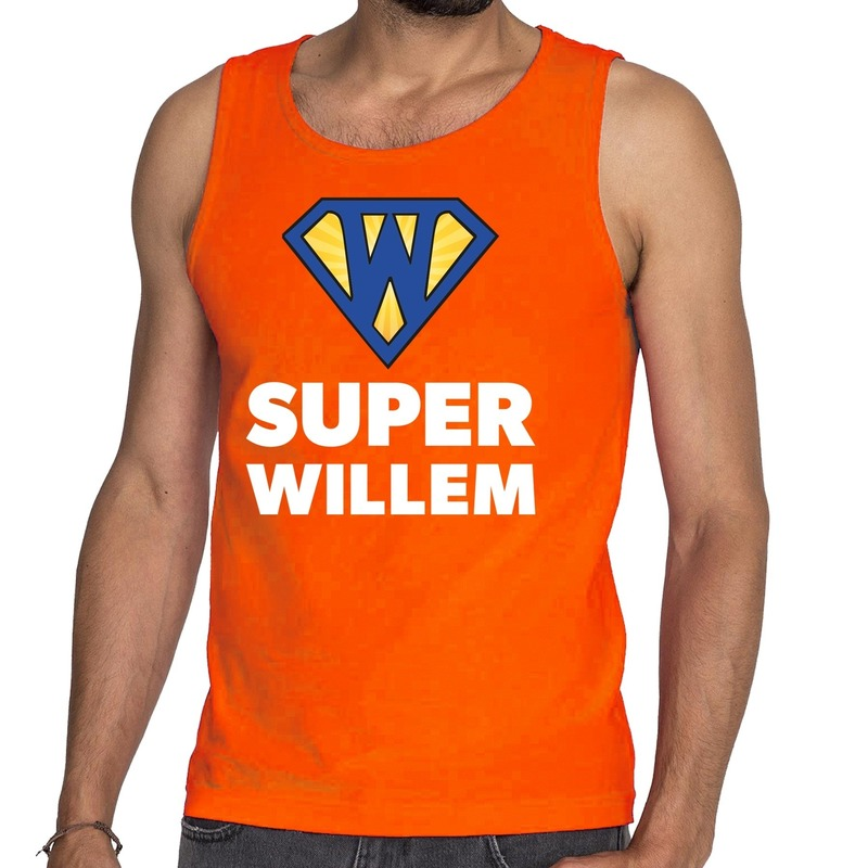 Super Willem tanktop / mouwloos shirt oranje heren