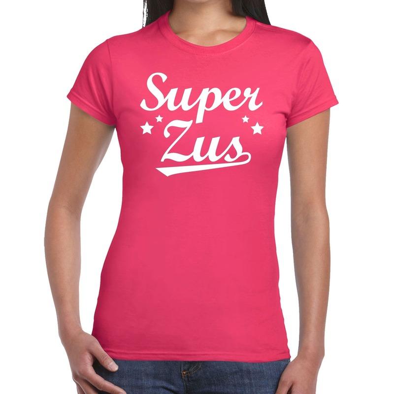 Super zus fun t-shirt roze voor dames