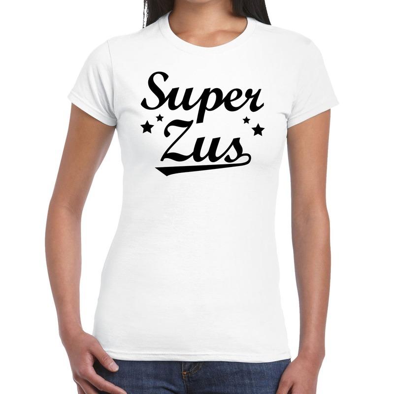Super zus fun t-shirt wit voor dames