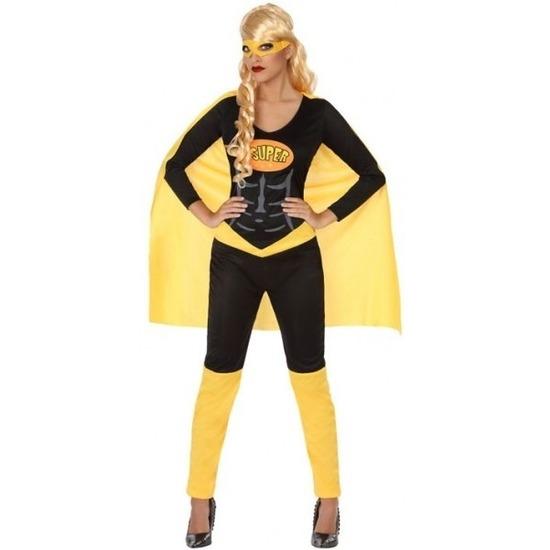 Superheldin kostuum zwart/geel voor dames M/L (38-40) Multi