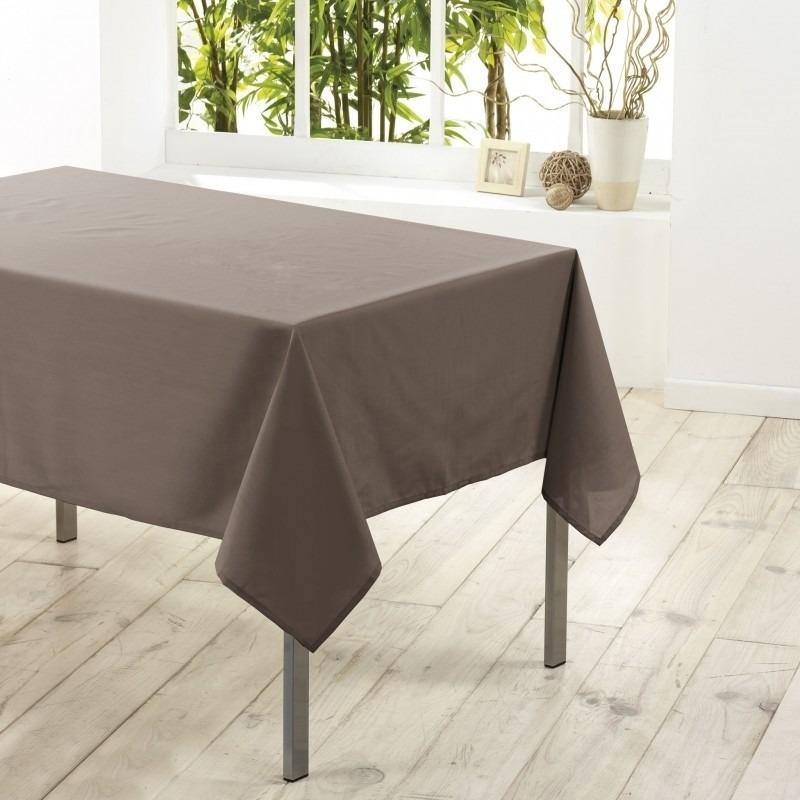 Taupe tafelkleden/tafellakens 140 x 250 cm rechthoekig van stof Bruin