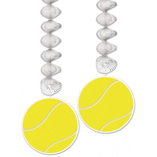 Tennis thema rotorspiraal 76 cm 2 stuks Multi