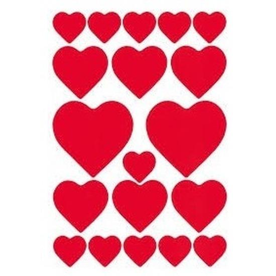 Valentijn hartjes love stickers 114 stuks Rood