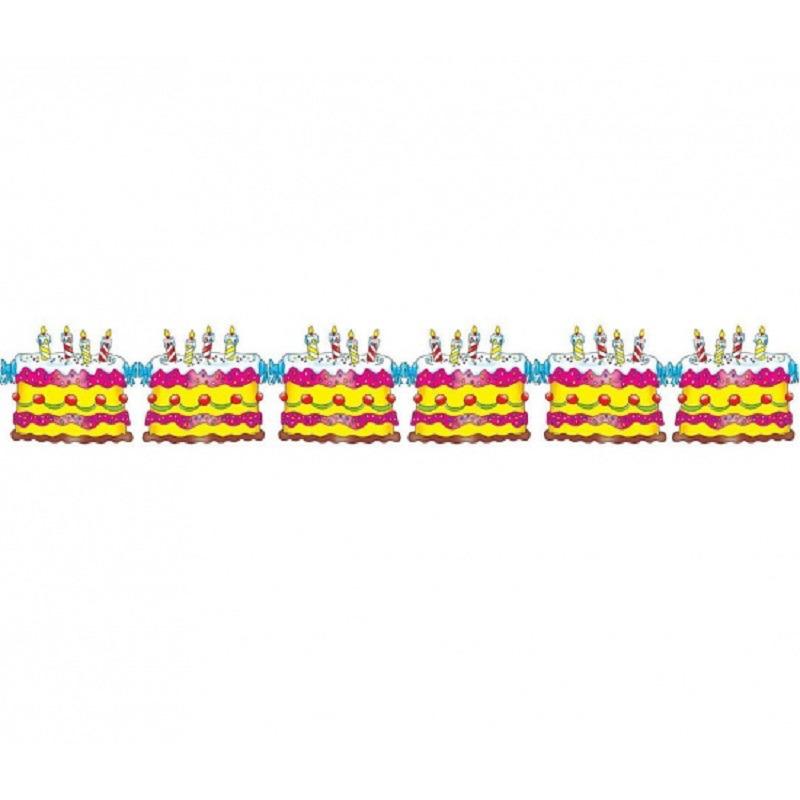 Verjaardag taart feest slinger verjaardag 3 meter -