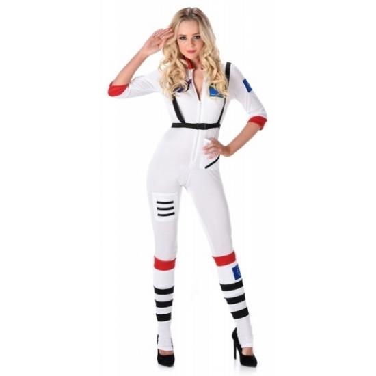 Verkleed kleding astronaut voor dames 34 (XS) Wit