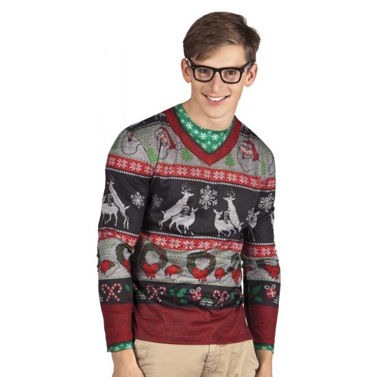 Verkleed t-shirt kersttrui heren XL -