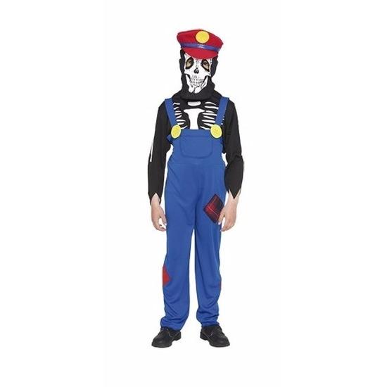 Verkleedkleding loodgieter horror skelet kostuum voor kinderen 110-122 (4-6 jaar) Multi