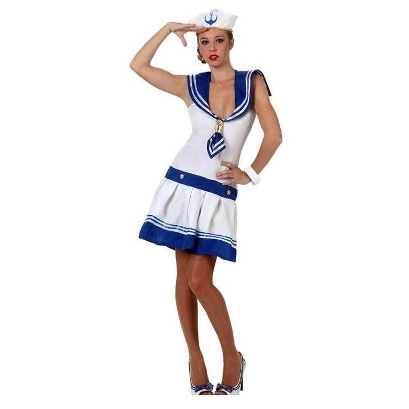 Verkleedkleding matrozen jurkje voor vrouwen M/L (38-40) Multi