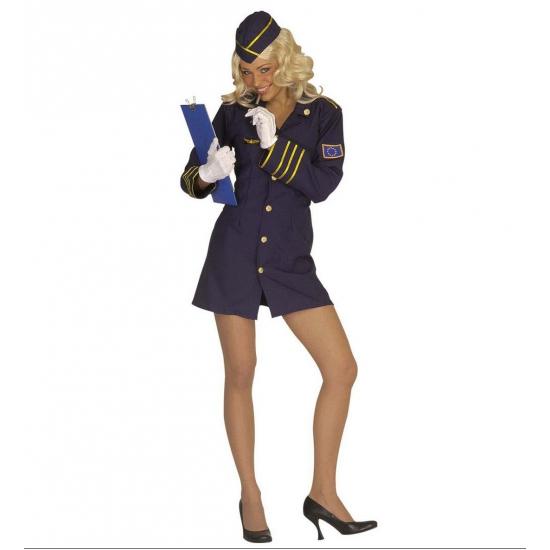 Verkleedkleding Stewardess pakje dames 42 (XL) Multi