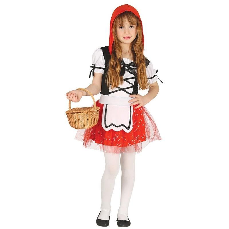 Verkleedkostuum Roodkapje voor meiden 7-9 jaar (122-134) Rood