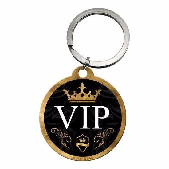 VIP ronde sleutelhanger 4 cm