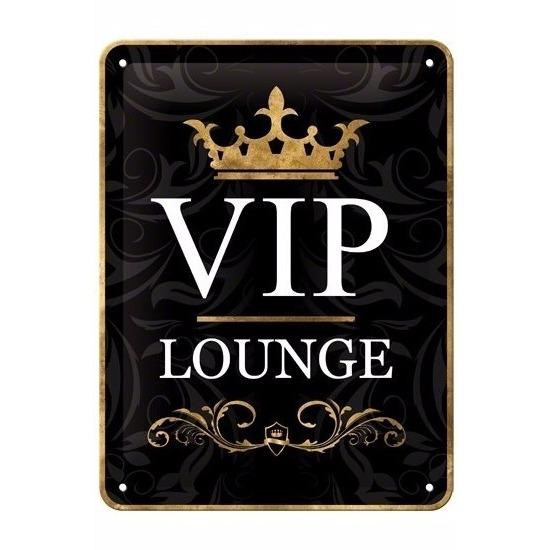 VIP thema Muurdecoratie VIP Lounge 15 x 20 cm Multi
