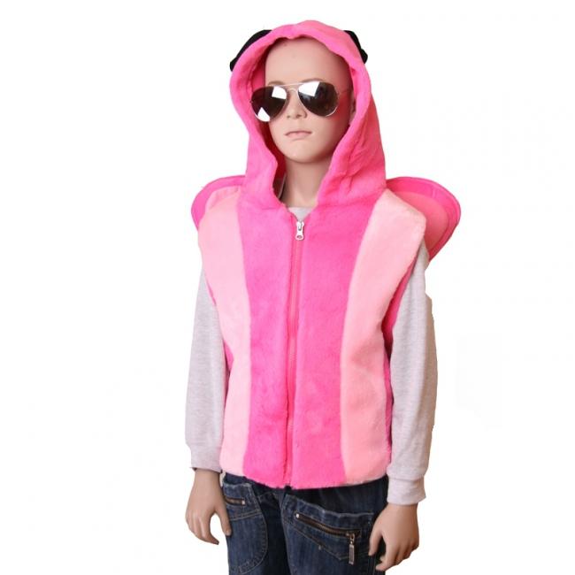 Vlinder bodywarmer voor kinderen M/L (4-6 jaar) Roze