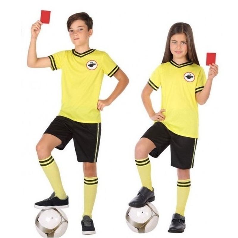 Voetbal scheidsrechter kostuum / set carnaval 116 (5-6 jaar) Multi