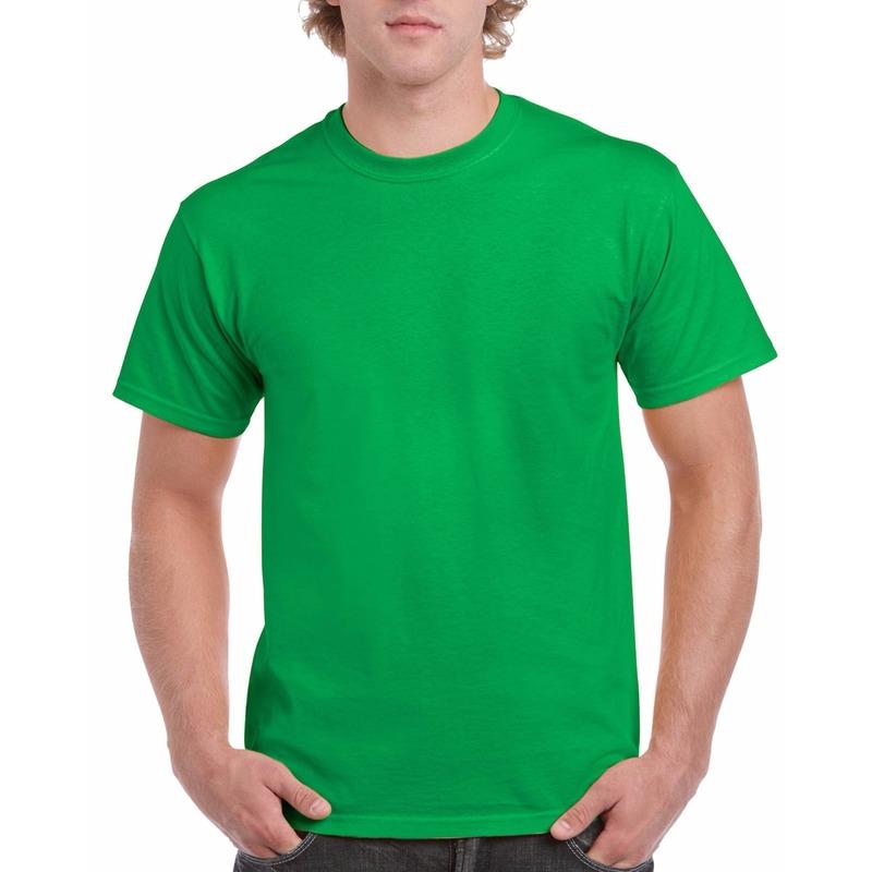 Voordelig fel groene T shirts voor heren 2XL (44 56) T shirts