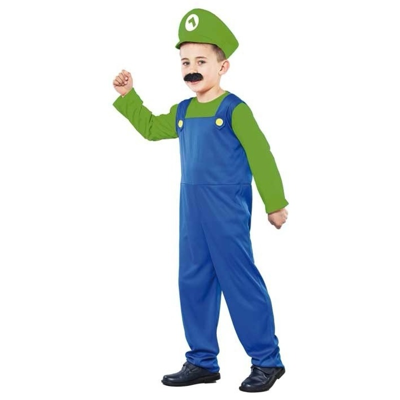 Voordelig Loodgieter kostuum kids groen 110-122 (4-6 jaar) Multi