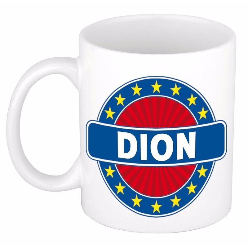 Voornaam Dion koffie/thee mok of beker