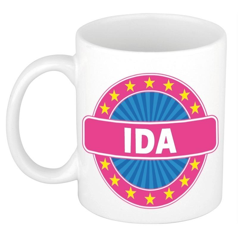 Voornaam Ida koffie/thee mok of beker