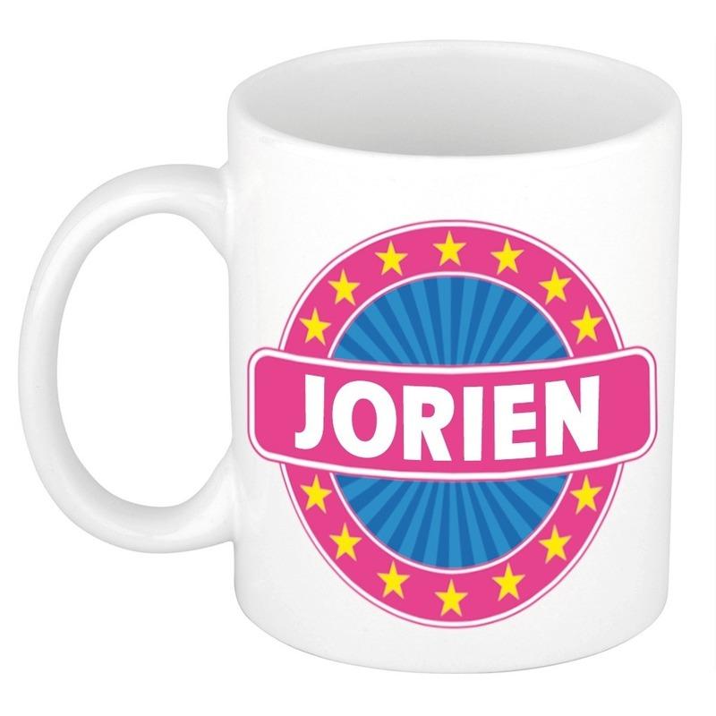 Voornaam Jorien koffie/thee mok of beker