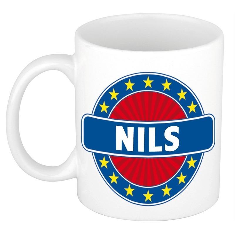 Voornaam Nils koffie/thee mok of beker