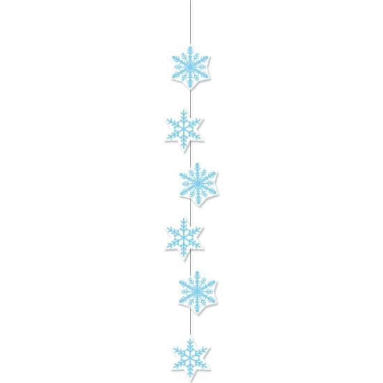 Winter sneeuwvlokken slinger 108 cm Multi