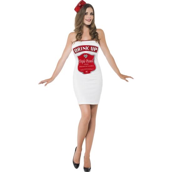 Wit dames kostuum drink up 44-46 (L) Multi