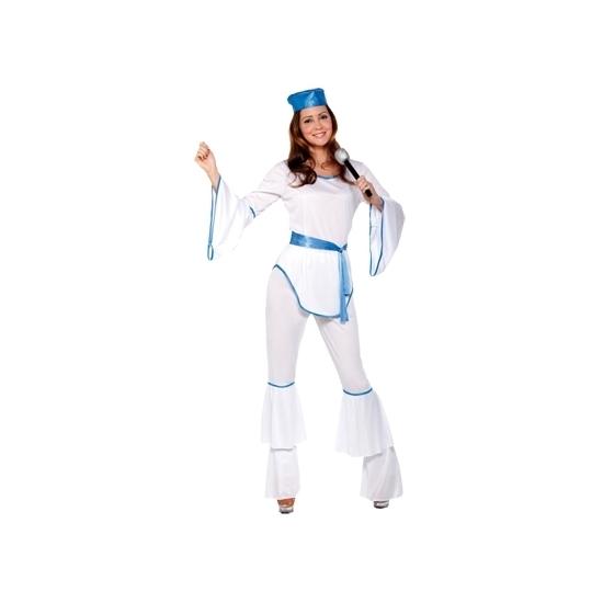 Wit disco kostuum voor dames S/M (T-04) Wit