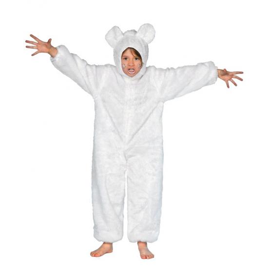 Wit ijsberen pak voor kinderen 116 Wit