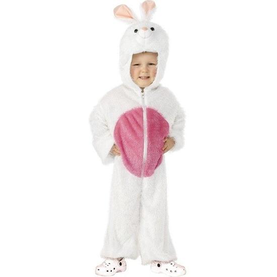 Wit konijnenpak kinderen One size Wit
